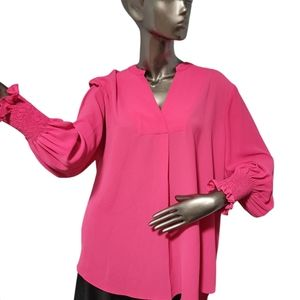 Lord & Taylor Pink flowy Blouse Size about XXL